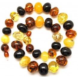 Baltic amber baroque beads necklace
