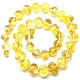 Baroque beads short Baltic amber necklace
