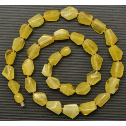 Faceted Baltic amber  yellow necklace