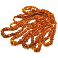 5 Real antique long  Baltic amber necklaces