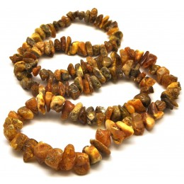 Real Antique long  Baltic amber necklace