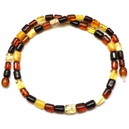 Barrel shape  Baltic amber necklace