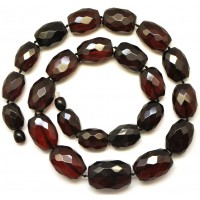 Cherry faceted  Baltic amber necklace 49 g .