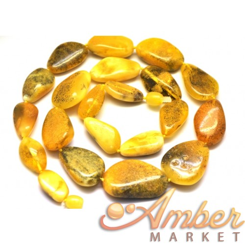 Big beads Baltic amber necklace