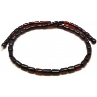 Barrel shape cherry Baltic amber necklace