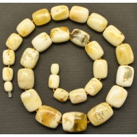 Exclusive white Baltic amber necklace
