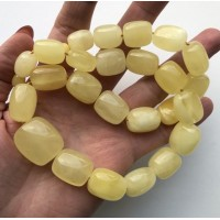 Natural barrel shape amber necklace