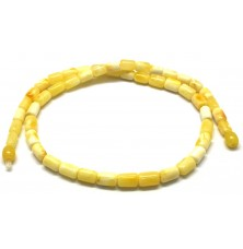 White greek style Baltic amber necklace