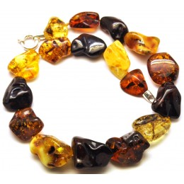 Natural shapes short Baltic amber necklace 91 g.