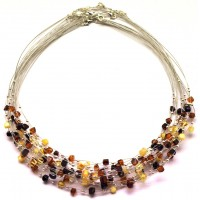 10 pcs Baltic amber wire necklaces