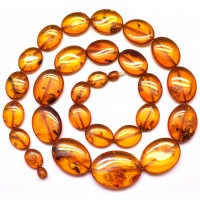 Cognac  Baltic amber long necklace
