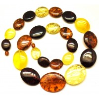 Baltic amber long necklace 90 g.