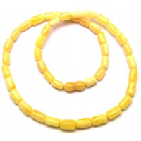Greek style white Baltic amber necklace