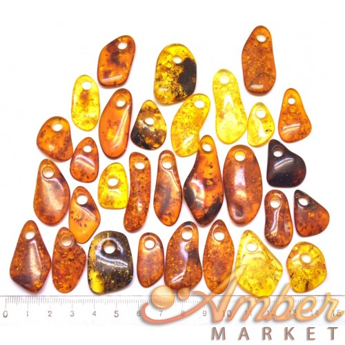 30  Baltic amber pendants with hole