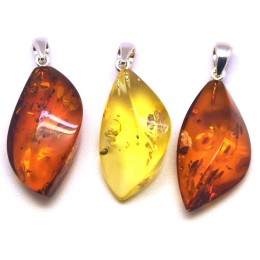 3 Baltic amber pendants