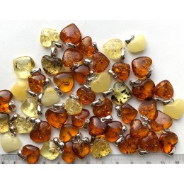 Genuine Baltic Amber Heart Pendants 50g