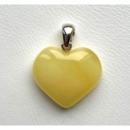Genuine Baltic Amber Heart Pendant 2,8 g.