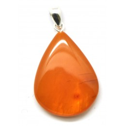 Antique color Baltic amber pendant