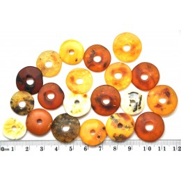 Lot of 20  Baltic amber amulet pendants