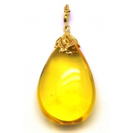 Baltic amber drop pendant