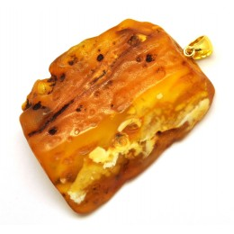 Big raw  Baltic amber pendant 24 g.