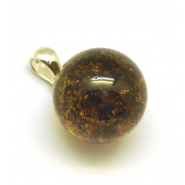 Sale specials sale round baltic amber pendant with inclusion 19 mm aloadofball Images
