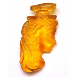 Hand carved Baltic amber pendant of woman