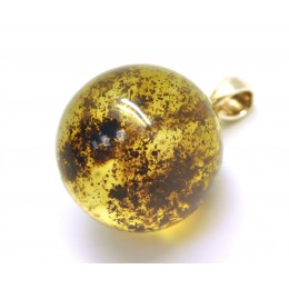 Round Baltic amber pendant 24 mm.