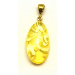 Beautiful free form Baltic amber pendant
