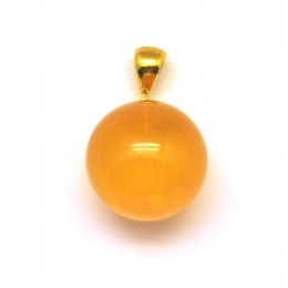 Baltic amber round pendant 18 mm