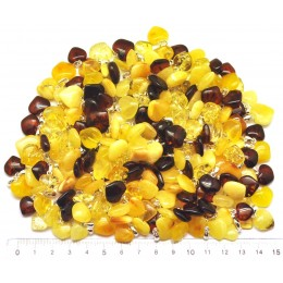 200g. Baltic amber heart shape pendants