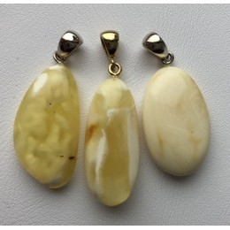 3 Natural amber  pendants