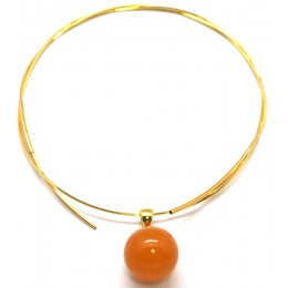 Antique Baltic amber round pendant 17 mm with chain
