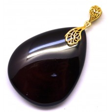 Cherry Baltic amber drop pendant