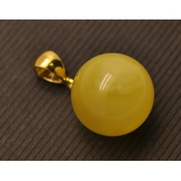 Baltic amber round pendant 15,5 mm
