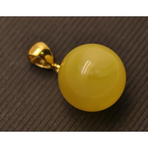 Baltic amber round pendant 15,5 mm