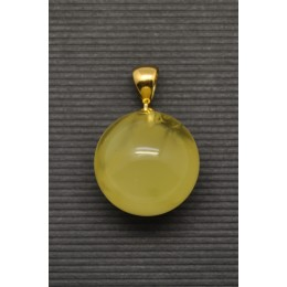 Baltic amber round pendant 19 mm