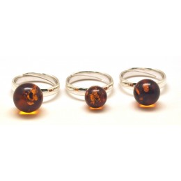 Lot of 3 round Baltic amber  rings