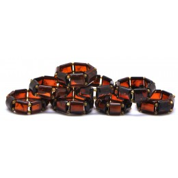 Lot of 8 cherry  Baltic amber elastic rings