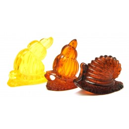 Lot of 3 hand carved Baltic amber figurines
