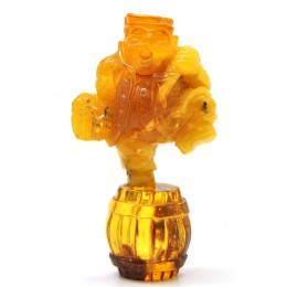 Real antique Hand carved Baltic amber figurine 63 g .
