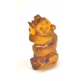 Hand carved Baltic amber figurine of bear
