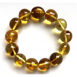Genuine BALTIC AMBER Bracelet with FOSSIL INSECTS 22g