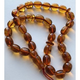 Islamic 33 prayer beads olive amber rosary