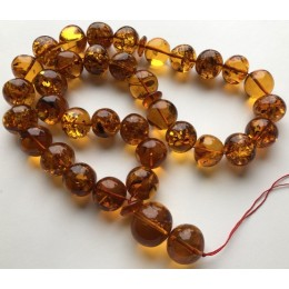 Islamic 33 prayer beads baroque amber rosary  159g
