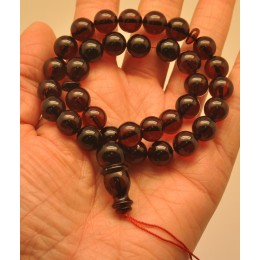 Cherry Islamic 33 prayer round amber beads rosary