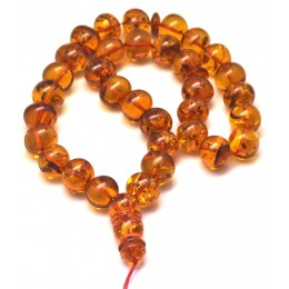 Islamic 33 prayer baroque amber beads rosary