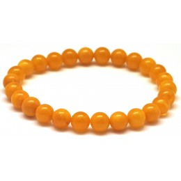 Antique round beads Baltic amber bracelet 8 mm.