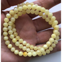 Lot of 3 Natural round beads amber bracelets