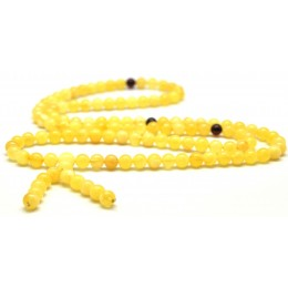 Elastic Tibetan Buddhist Mala Prayer 108 Baltic amber beads 6,8 mm